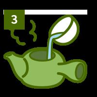 おいしい煎茶の淹れ方3